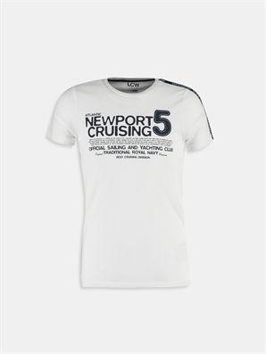 White Printed Regular Crew Neck T-Shirt, Urun kodu: 6YF174Z6-J5E,Product Type:T-shirts,Design:Printed,Fit:Regular,Neck Type:Crew Neck,Main Fabric:%100 Cotton,