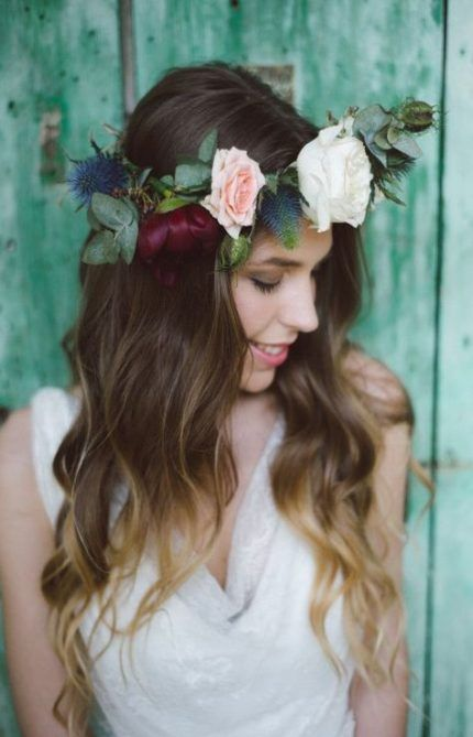 68  ideas flowers crown hairstyle bridal musings