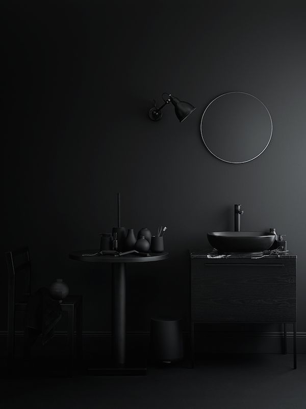 vosgesparis: Beautiful dark bathrooms styled by Lotta Agaton