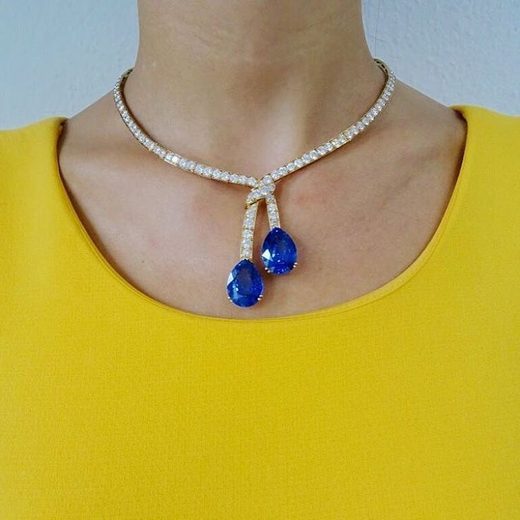 Van Cleef & Arpels. SothebysJewels. This striking sapphire and diamond necklace goes on view at the Hotel Beau Rivage in #Geneva tomorrow, along with other pieces from our 16 November #Jewellery sale. Make sure you stop by! #SothebysJewels #hotelbeaurivagege #vancleefandarpels