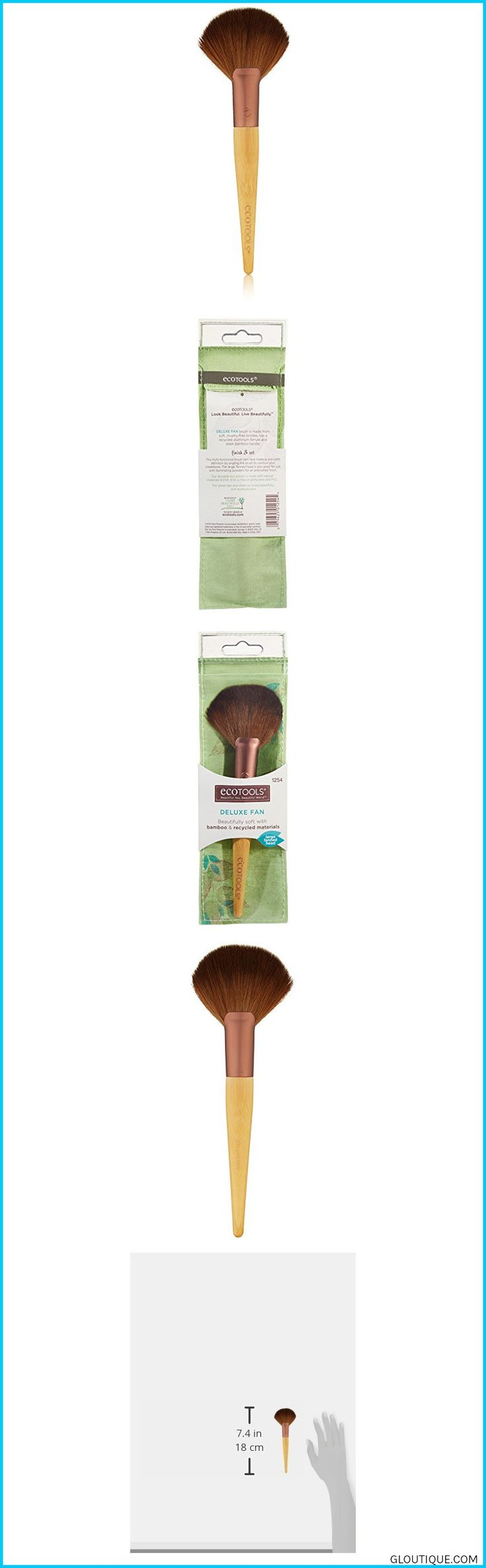 Use with illuminating powders and highlighters Incredibly soft, hand-cut bristles Sleek  handles#makeuptools #makeupartist #makeupbyme #organic #eyes #lips EcoTools Deluxe Fan Brush, 1.16 Ounce #EcoTools #Deluxe #Fan #Brush, #1.16 #Ounce #Reviews