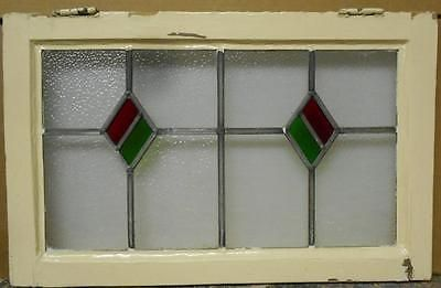 MID-SIZED-OLD-ENGLISH-LEADED-STAINED-GLASS-WINDOW-Double-Diamond-25-25-034-x-16-034