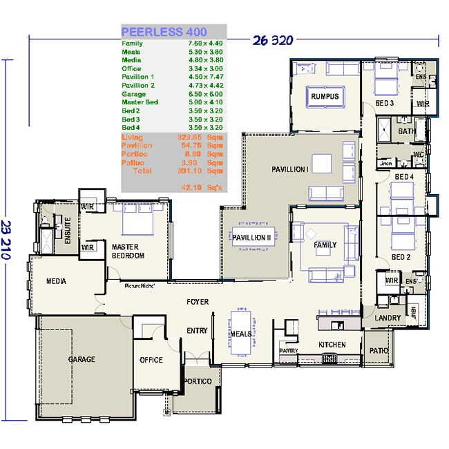 Large lowset house plan peerless 400 lowset house for Ron lee homes floor plans