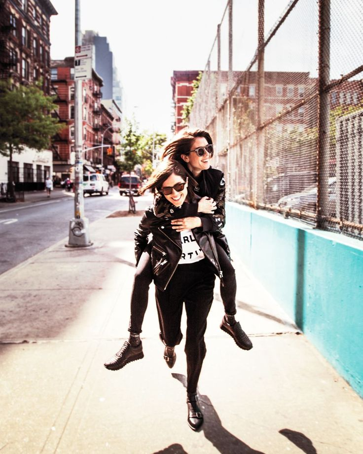 Tegan and Sara. Music. Fashion. Clothes. Makeup. Love You to Death. Black Clothes. Leather. Boots. Street. Life. Sisters.