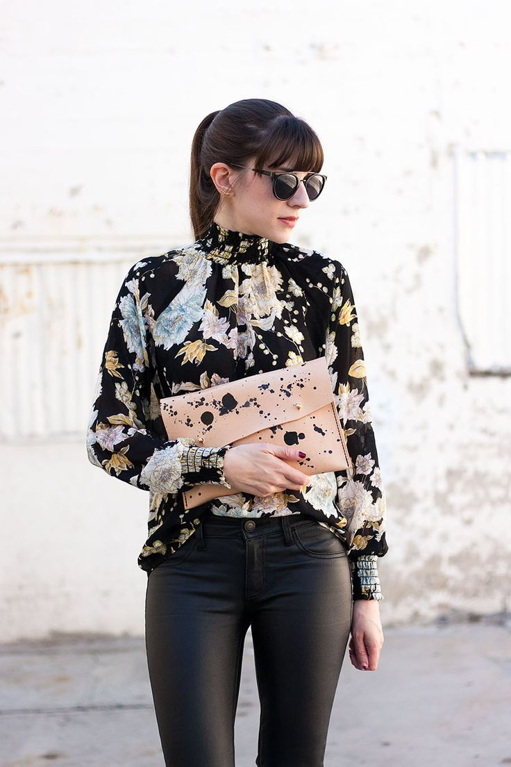 Walter and George Clutch, High Neck Blouse
