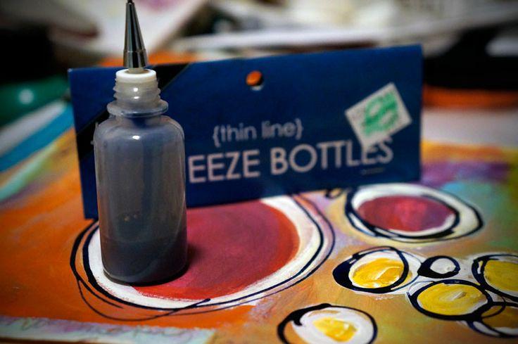 [mini-tutorial] Thin Line Squeeze Bottles