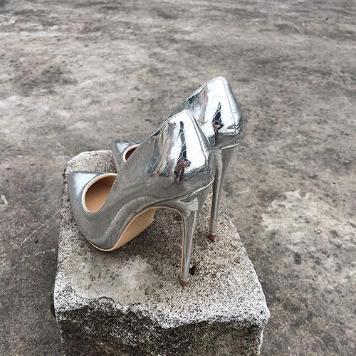 afea490776 Silk Upper Women Sexy High Heels Elegant Lady Pointed Toe in 2019 ...