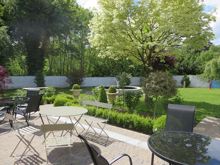 Our outdoor garden and terrace, available for outdoor dining and events.