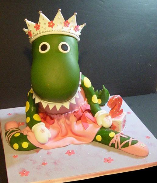 Princess Ballerina Dinosaur Cake :-)