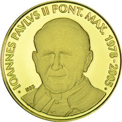 5 Euro Gold Papst Johannes Paul II PP