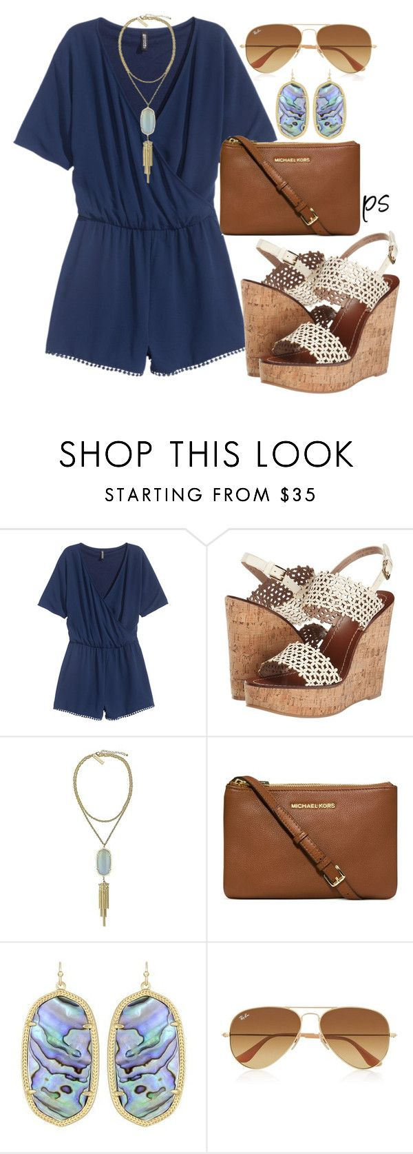 """""""Good Friday"""" by prep-society ❤ liked on Polyvore featuring Tory Burch, Kendra Scott, Michael Kors and Ray-Ban"""