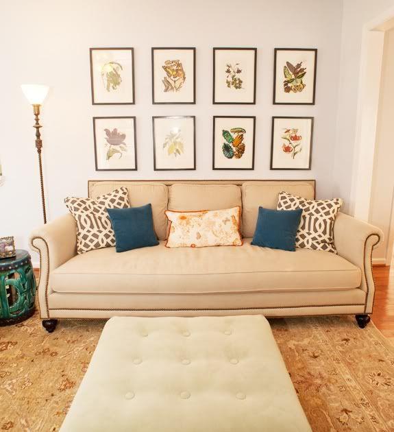 Emily A Clark Design Dilemma Space Above The Sofa
