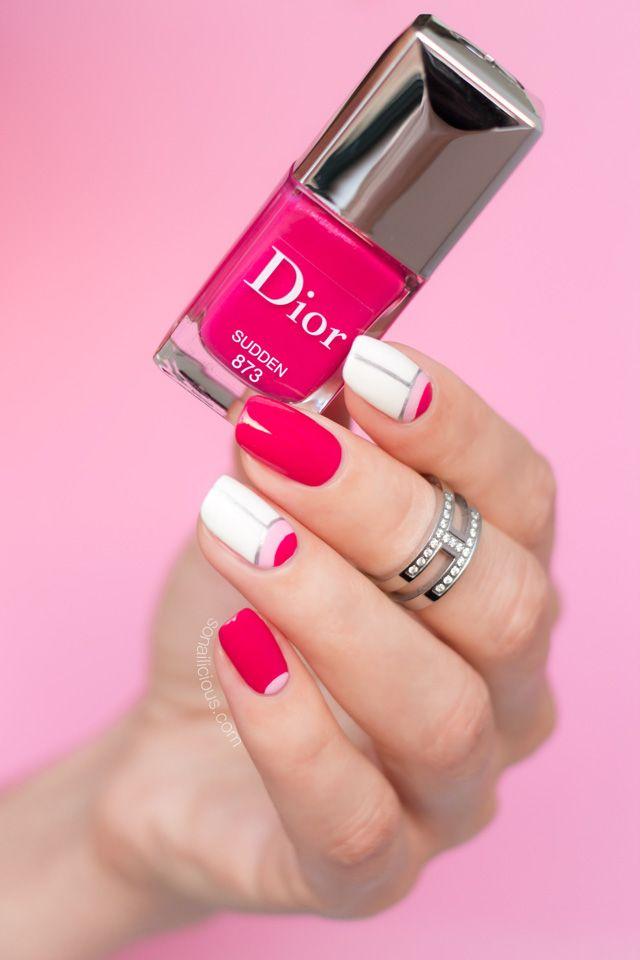 Dior Sudden || Pink nail design