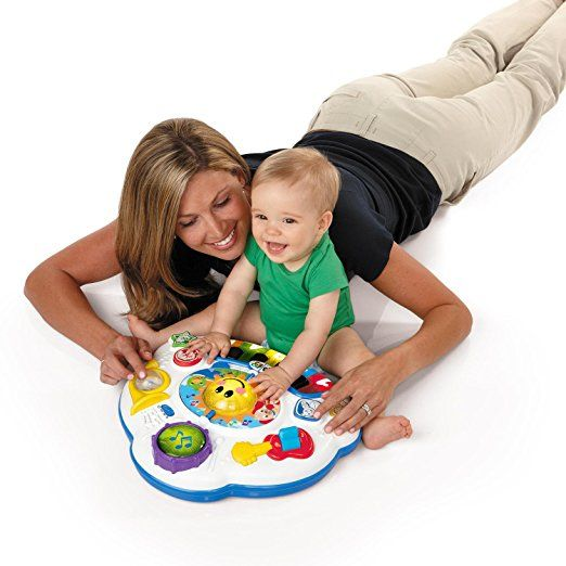 Amazon.com : Baby Einstein Discovering Music Activity Table : Stationary Stand Up Baby Activity Centers : Baby