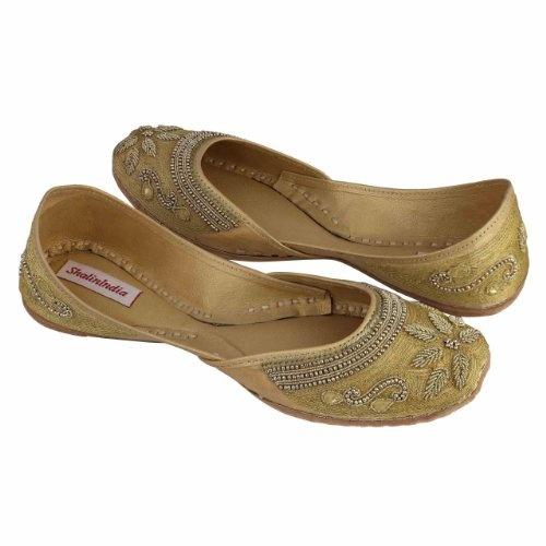 Mocasines indios para las mujeres con cuentas bordadas a mano Zapatillas Tamaño : 38: Amazon.es: Zapatos y complementos
