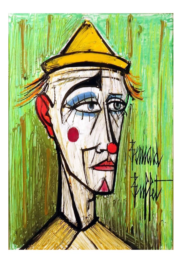 50 best bernard buffet les clowns images on pinterest for Bernard peintre