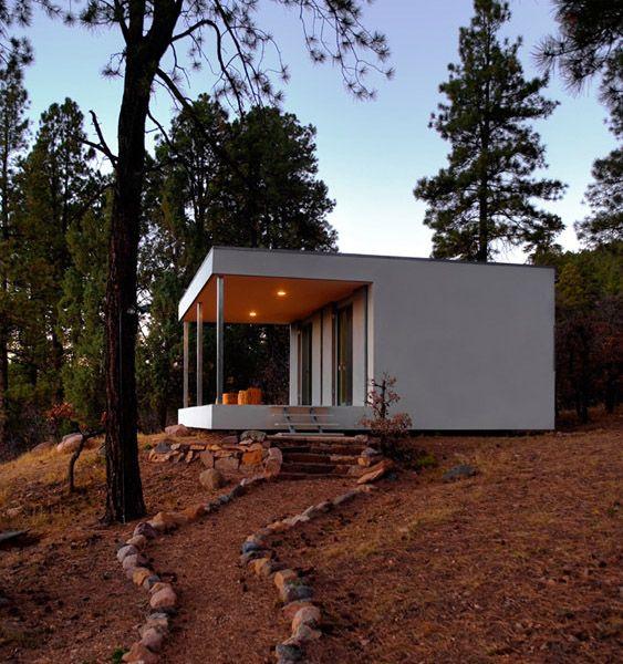 Modern design in a rustic setting.