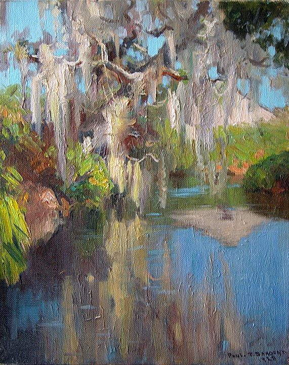 Spanish Moss Over The Estero River By Paul Turner Sargent