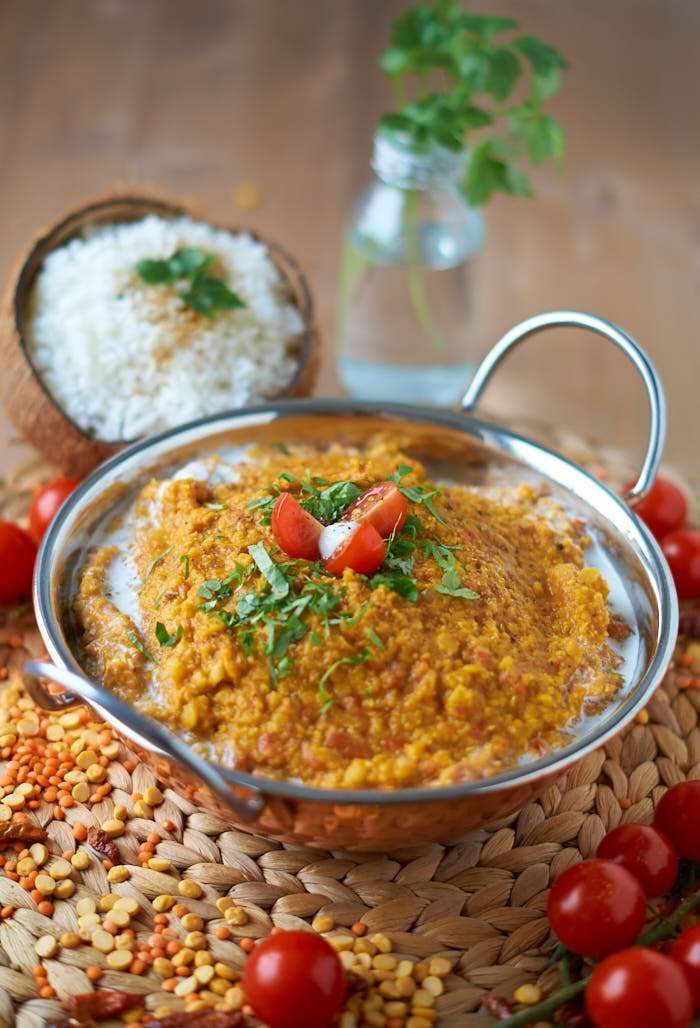 Rote und Gelbe Linsen Dal mit Tomaten | Indian Tomatoe Red and Yellow Lentil Dal…
