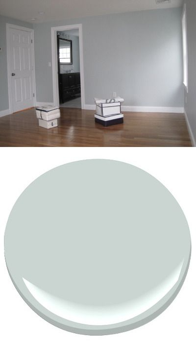 Pale Smoke Benjamin Moore Color Pinterest Paint