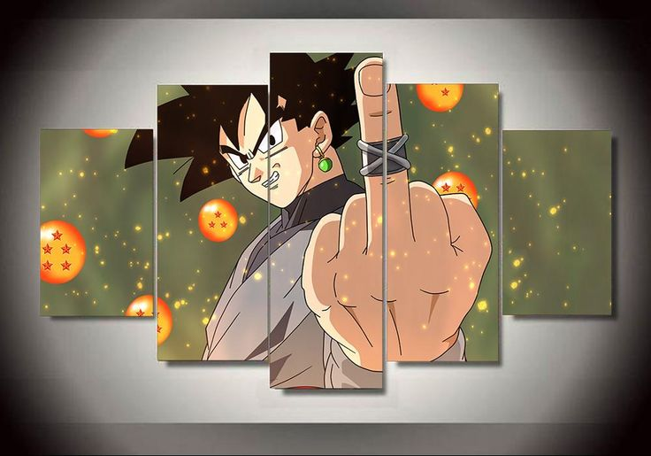 Dbz 3d Wallpapers Black Goku Thug Life 5 Panel Canvas Products Dragon