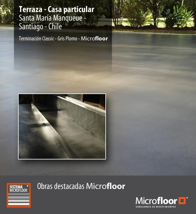 Terraza Pavimento y mueble en obra - Revestimiento microcemento Microfloor Línea Classic