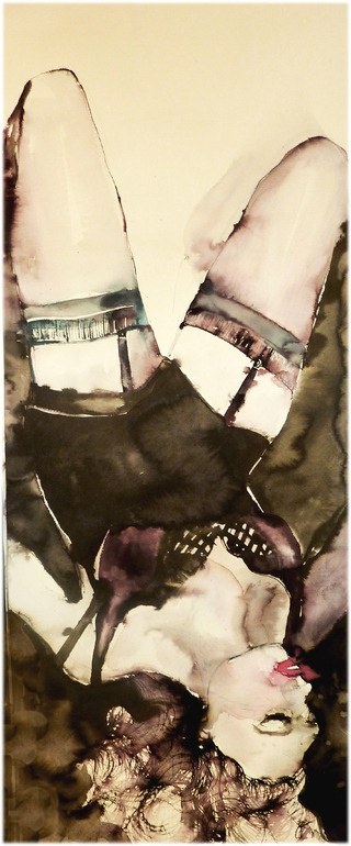 "Aga Maria Masternak; Watercolor, 2011, Painting ""aries27"" Matrícula de Honor !! P.B."