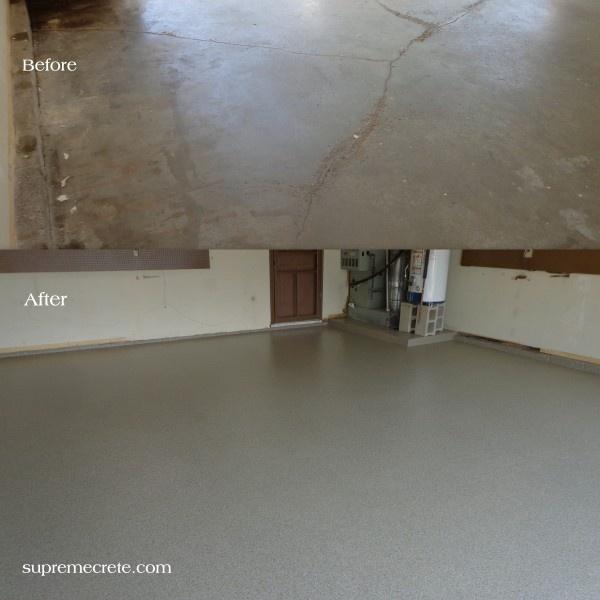 Cracked Garage Floor Repair   Ft Wayne