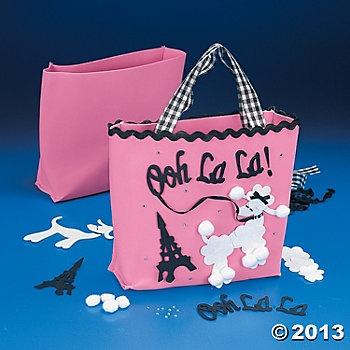 Pink Poodle Tote Bag Craft Kit