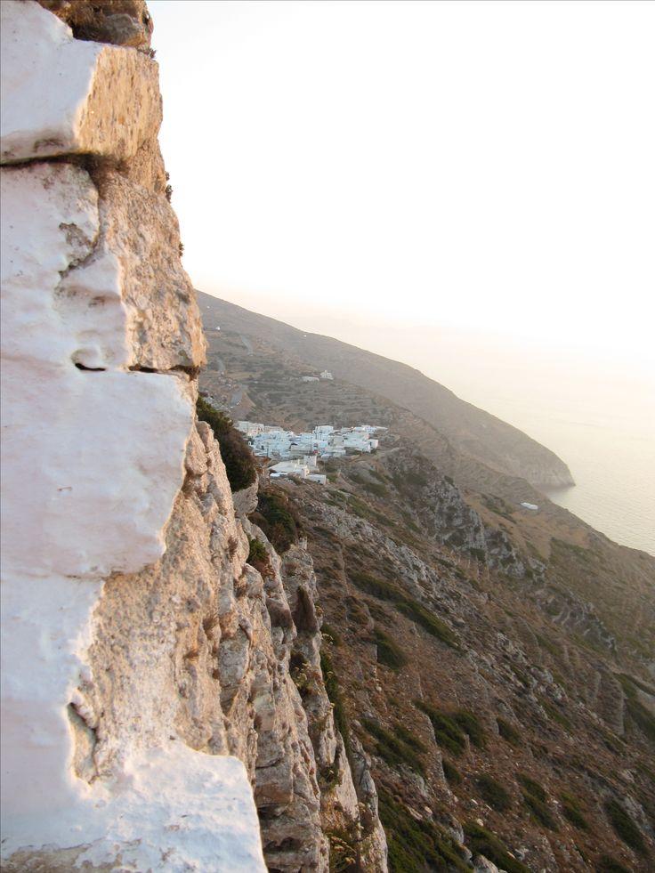 View of Sikinos castle from Chrysopigi Monastery, Sikinos