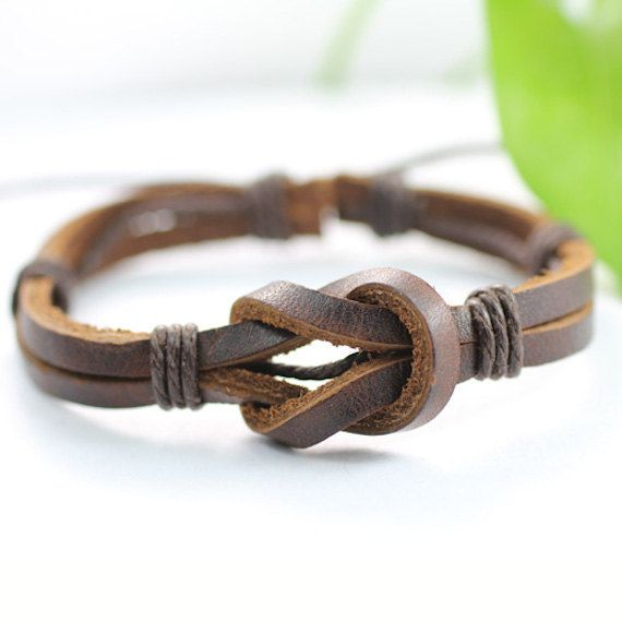 Leather Wrap Bracelet Handmade Men's Leather by BraceletStreetUSA