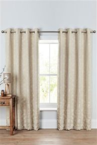 Thick cream eyelet  curtains