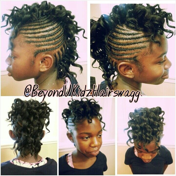 @BeyondUKidzHairswagg...kids Mohawk braid style