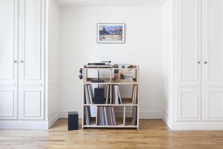 1000 id es sur le th me meuble hifi sur pinterest home for Meuble porte vinyle