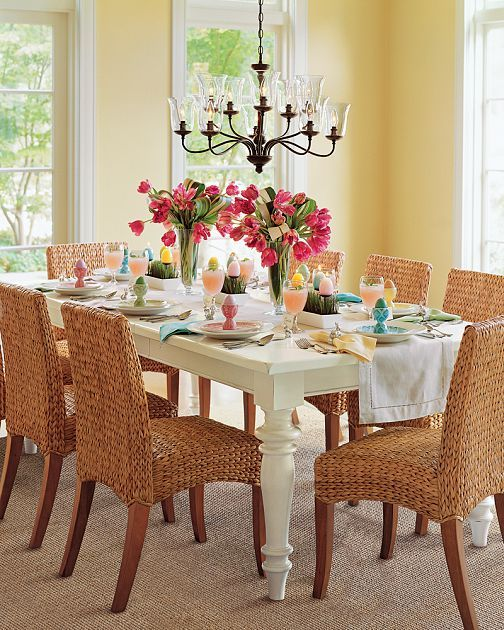 Whimsical Yellow Dining Room Possibly A Shade Lighter Check Floor Coloring Too