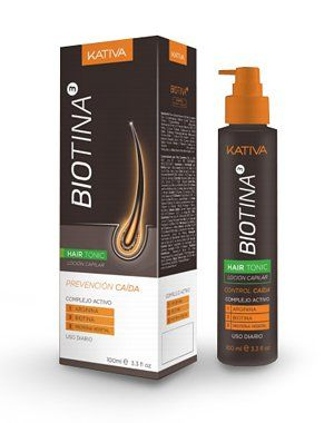 Тоник от выпадения волос с биотином, Kativa Biotina, 100 мл,  купить тоник для роста волос в Созвездии Красоты с доставкой по Москве и России