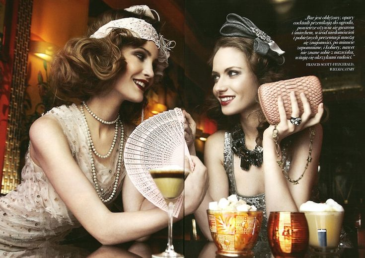 Gatsby: Filip Grudzewski, Julie and Kasia Slominska in The Great Gatsby by Maciej Bernas for Fashion Magazine 2012