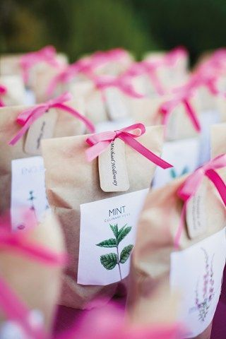 Wedding Favour: a bag of seeds for your guests to grow their own plants