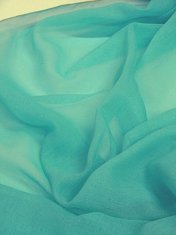 Turquoise semi sheer curtains fabric 118 inches by Eleptolis ...