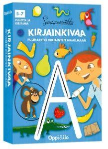 Apina alkaa a:lla ja etana e:llä. Katso kuinka hienon s-kirjaimen piirsin! Tekemispakka pullollaan innostavaa ja monipuolista kirjainpuuhaa, joka kehittää kuin huomaamatta lapsen luku- ja kirjoitustaidon valmiuksia. Kynä käteen ja puuharetki kirjainten maailmaan voi alkaa!