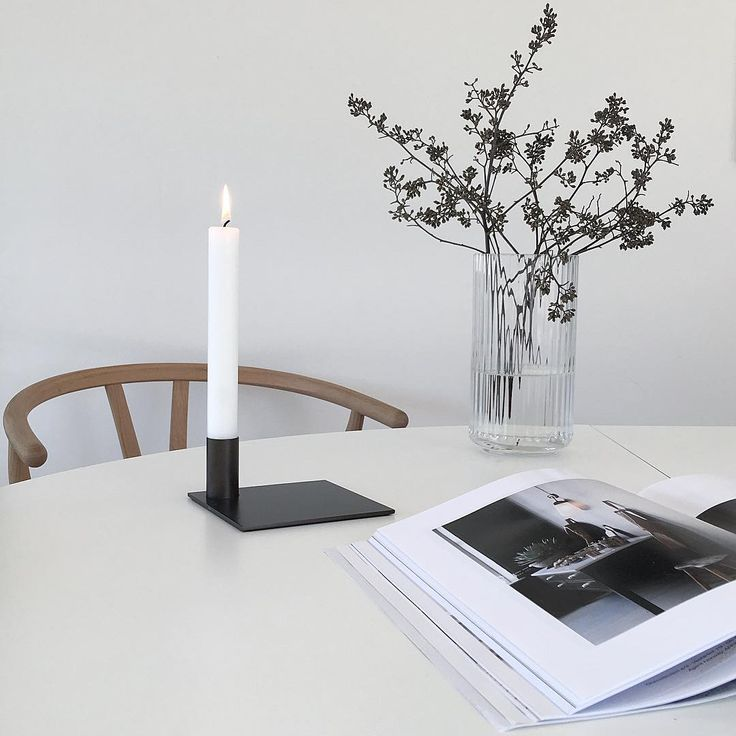 Square Candle Holder Black in the home of @palettenoir