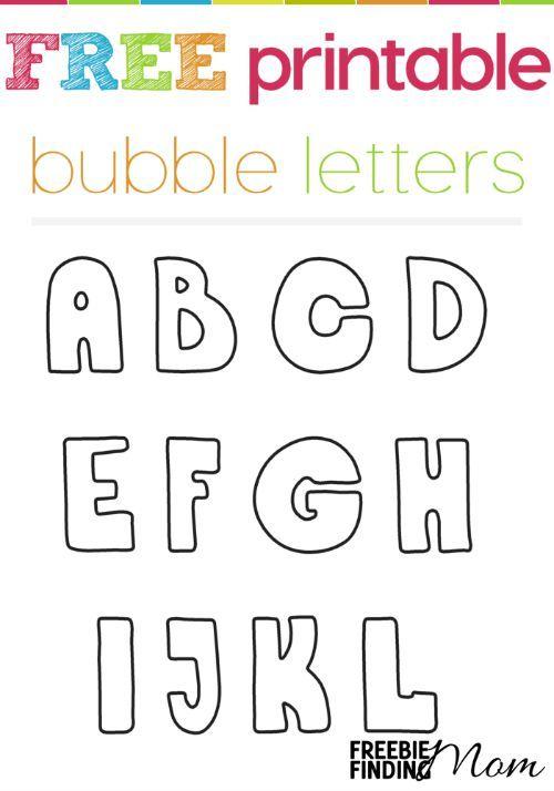 Free Printable Bubble Letters Freebies Pinterest Bubble