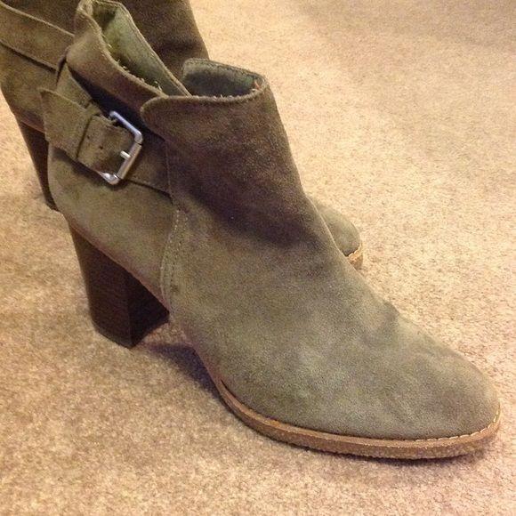 "Gap Heeled Booties Grey suede look booties with 3"" heel. In great condition. GAP Shoes Ankle Boots & Booties"