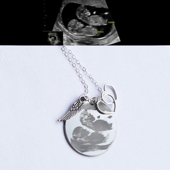 Ultrasound Memorial Necklace from the Designed To Shine Mother's Day collection. For those of us that were never able to hold our baby(ies). #MothersDay #miscarriage