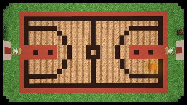 Minecraft how to make a basketball court minecraft for Build a basketball court