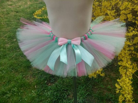 Spring - mint - light pink - pink - baby girl – girl tutu – wedding – birthday – christianing – pageant