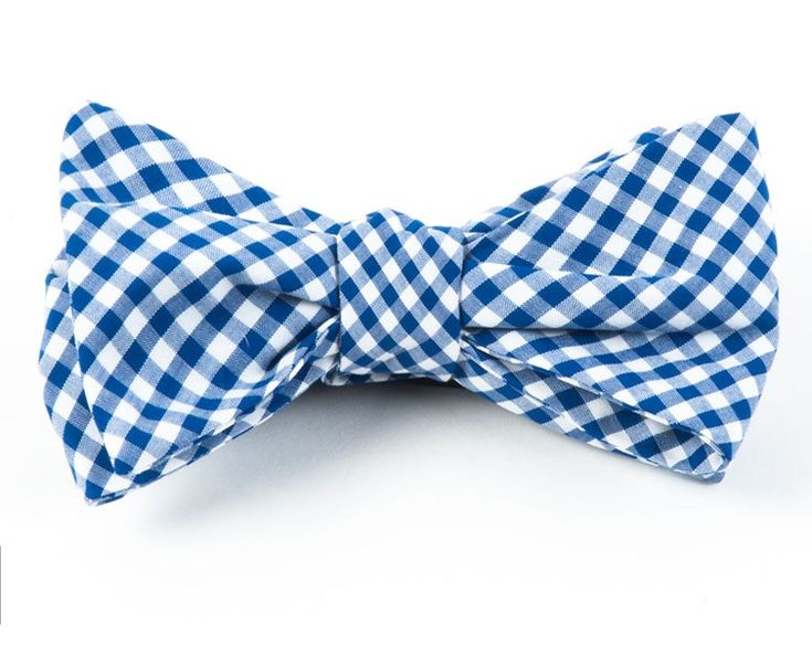 Novel Gingham Bow Ties - Royal Blue | Ties, Bow Ties, and Pocket Squares | The Tie Bar