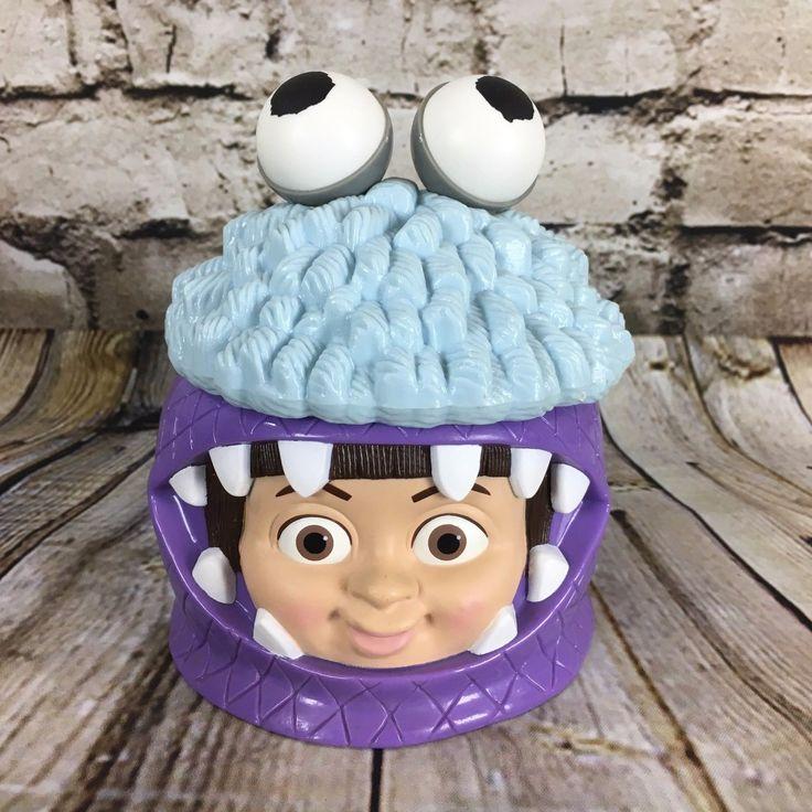 Disney On Ice Monsters Inc Boo Monster Costume Souvenir Flip Top Plastic Mug
