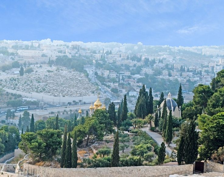 Jerusalem, Israel. Mount of Olives (Pinner, will copy this beautiful picture and hang it on a Wall!