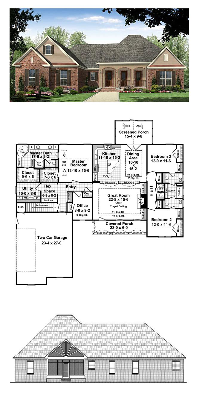 Country French Floor Plans French Country Style Area